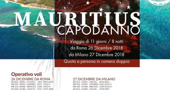 Offerta Capodanno Mauritius Dicembre Euro 2.590. Partenza 27 dicembre 2018 da Milano Malpensa.